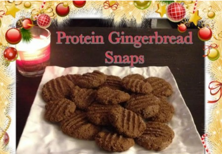 Protein Gingersnap Cookies